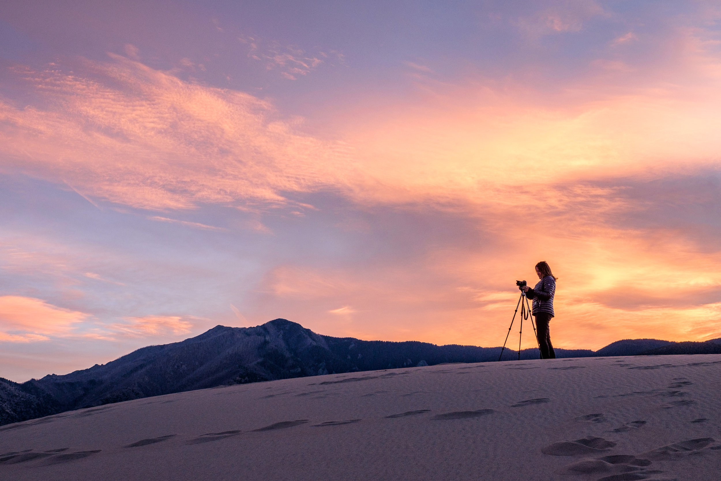 Sunset photography at Great Sand Dunes National Park and Preserve in Colorado
