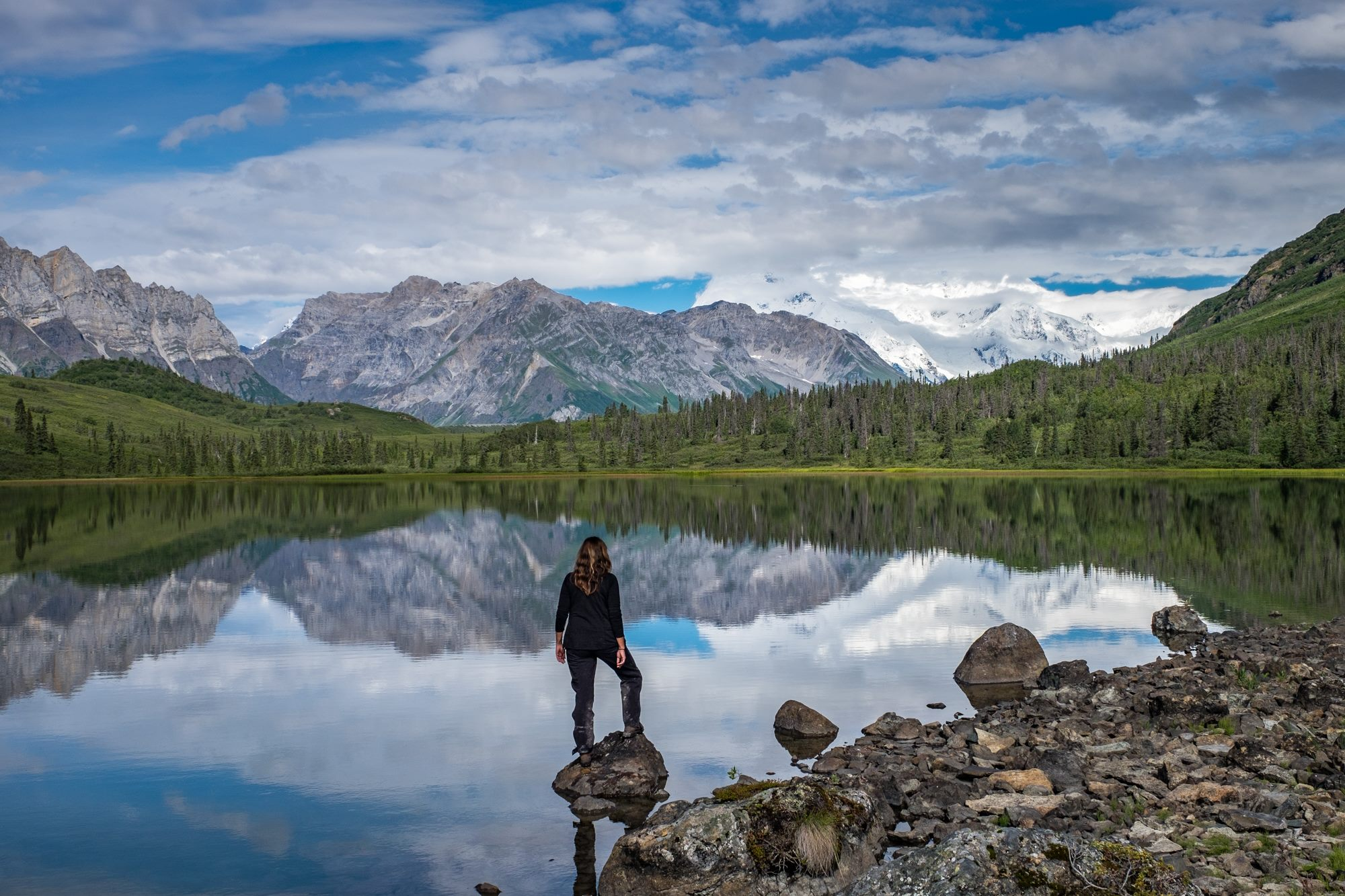 At Donaho Basin in Wrangell-St. Elias National Park and Preserve in Alaska