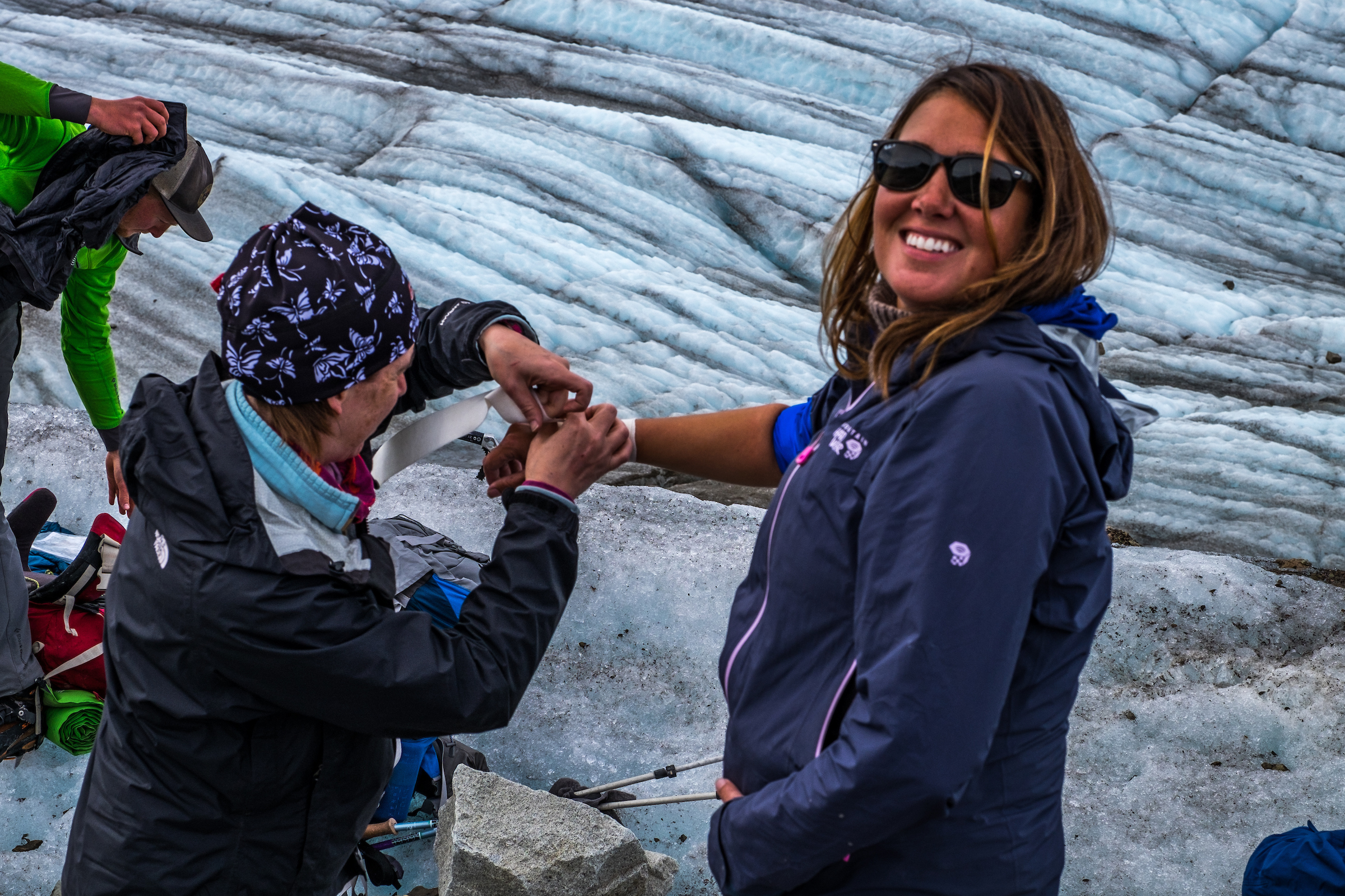 Oops. I got hurt once. A bum wrist at Wrangell-St. Elias National Park and Preserve in Alaska. But I never got sick! Not once during my year in the national parks!!