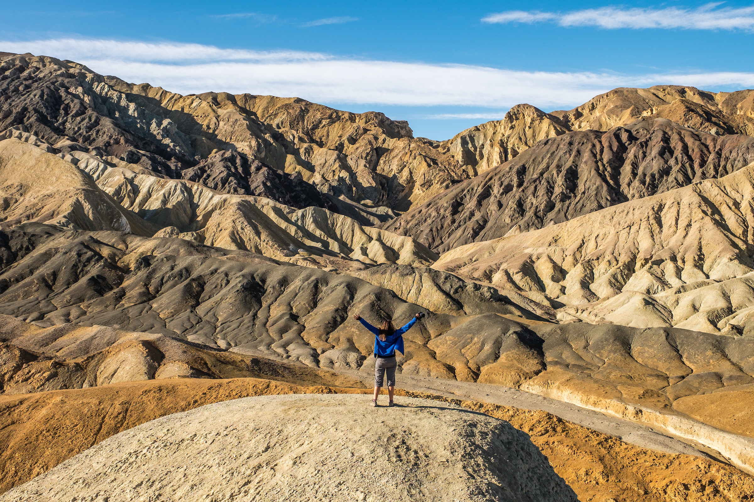 At Zabriskie Point in Death Valley National Park in California/Nevada