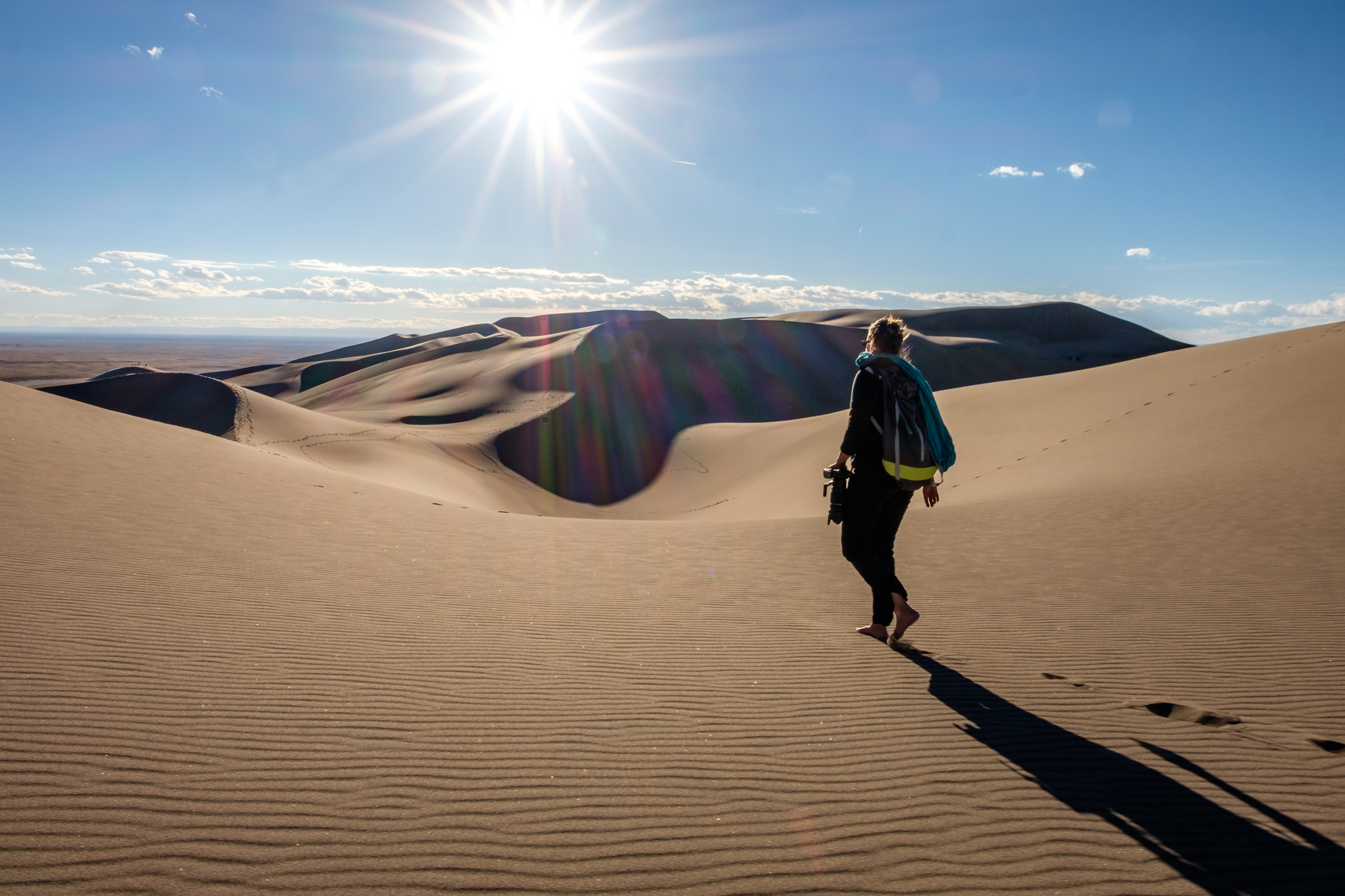 Kissed by the sun at Great Sand Dunes National Park and Preserve in Colorado