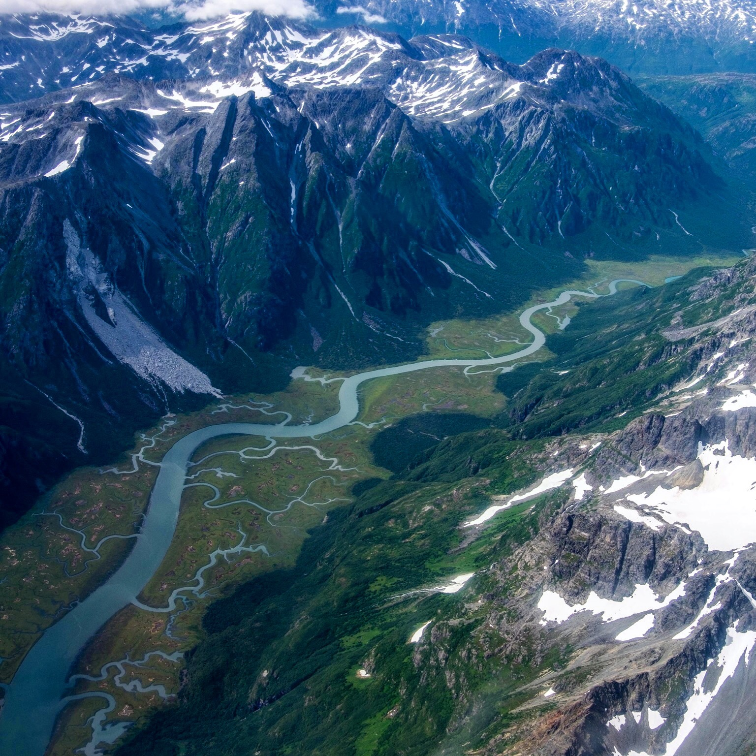 Alaska from the air, Alaska, USA