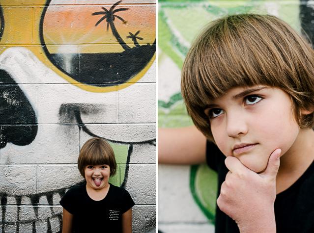 eva mae portrait with graffiti // (c) jocelyn mathewes