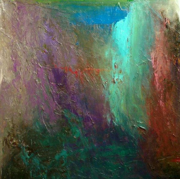 """Lotus"" 40x40 acrylic on canvas"