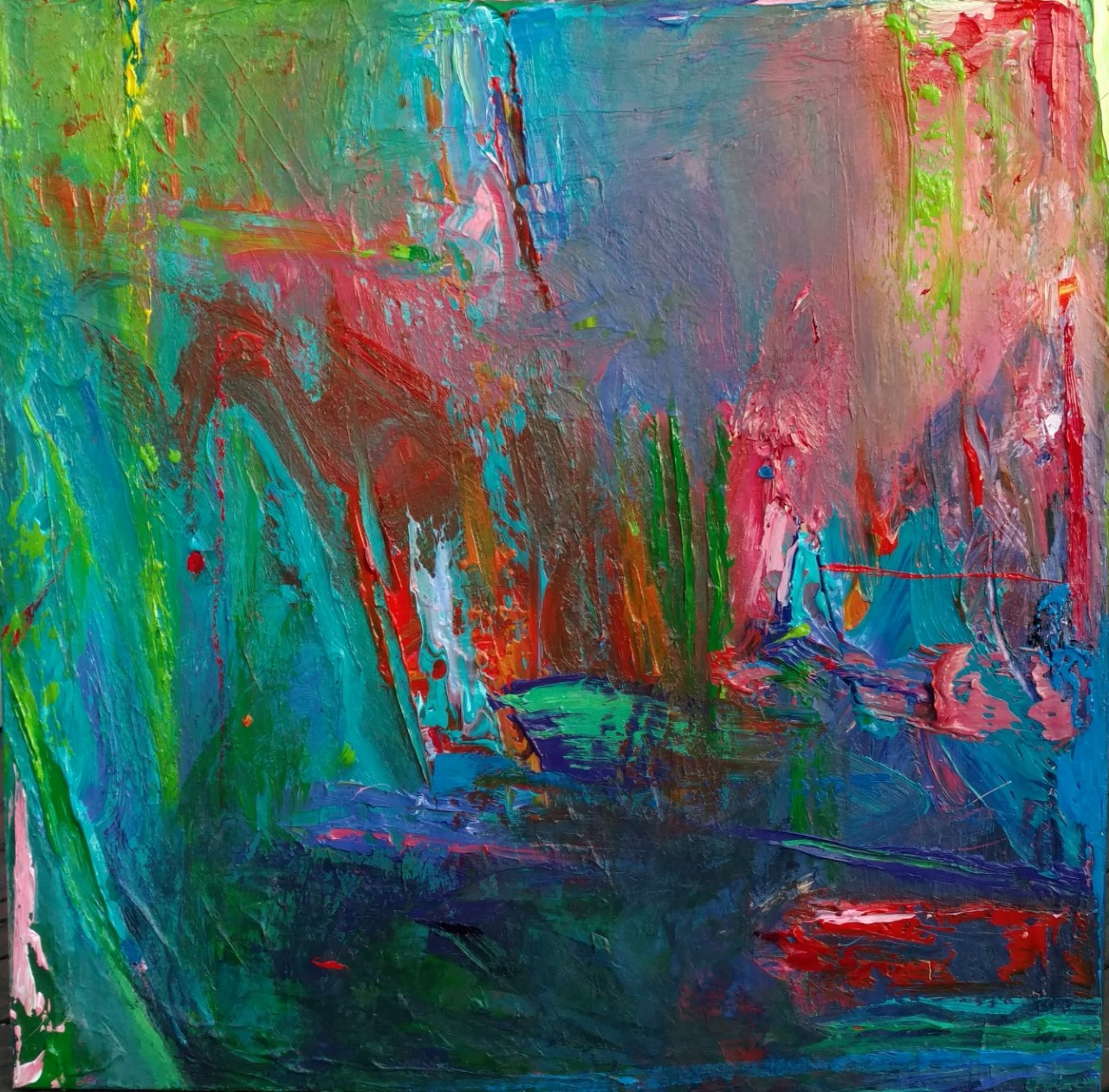 """Alive"" 38x38 acrylic on canvas"