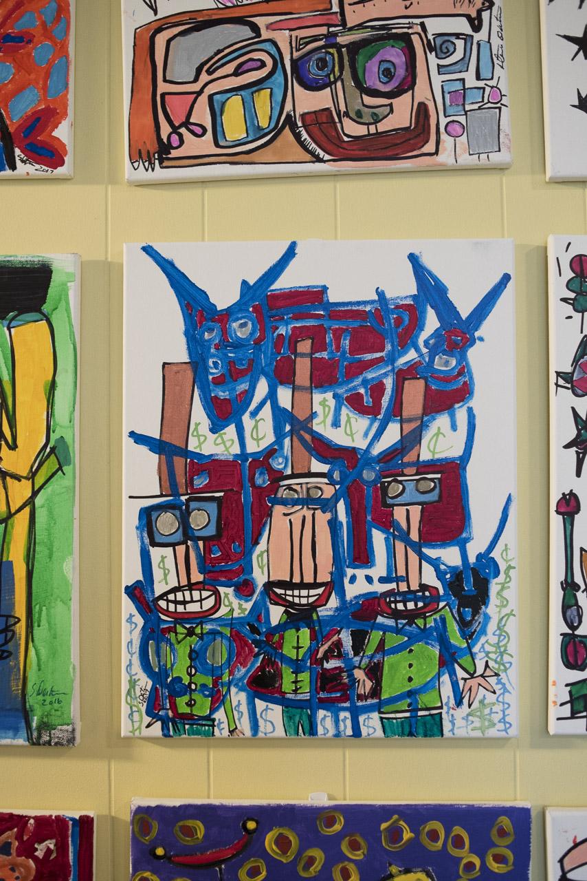 Steve Denton painting detail.
