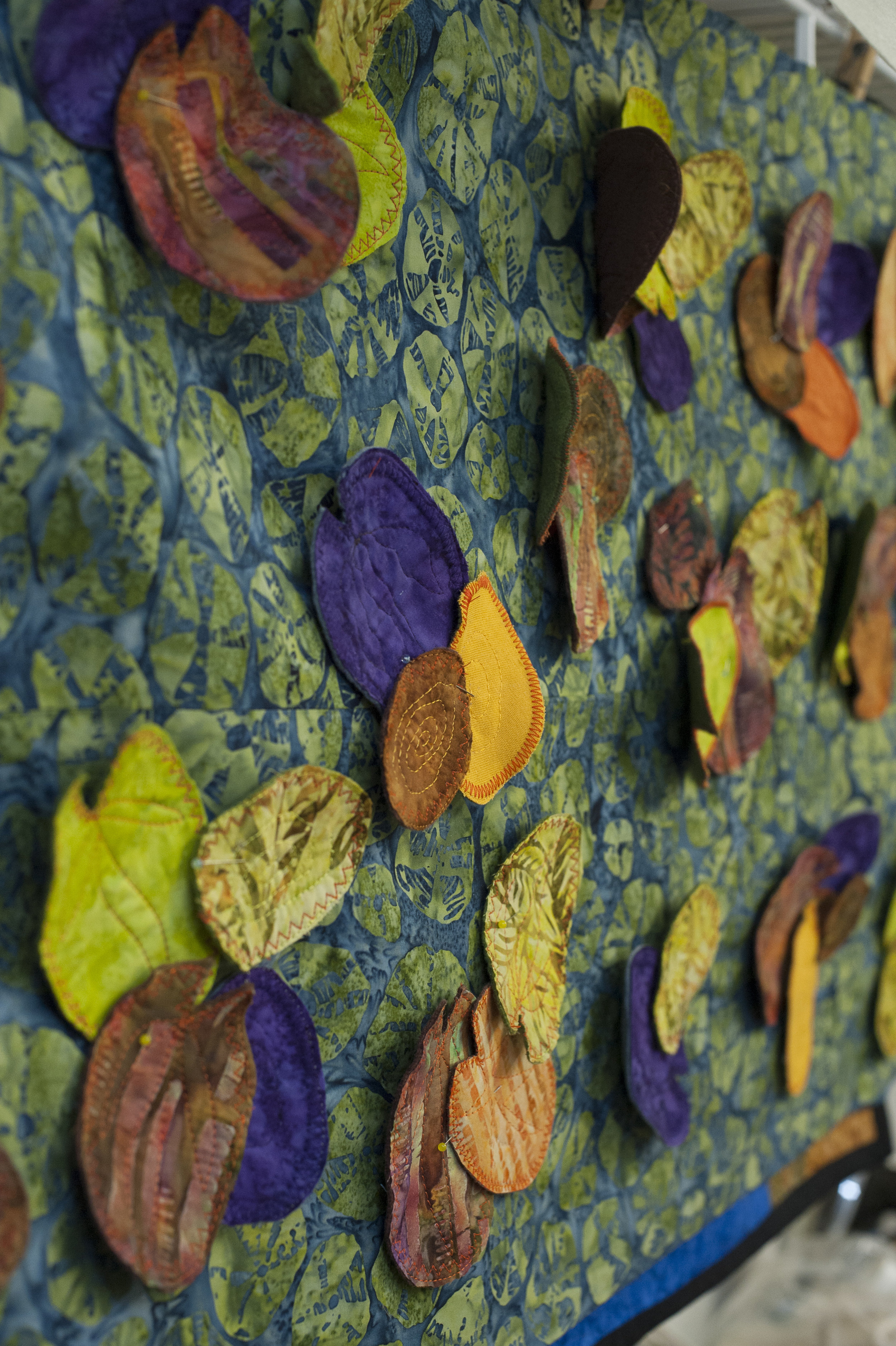 details from Joan's 3D fabric work