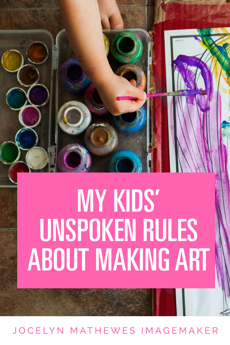 My kids' unspoken rules about making art