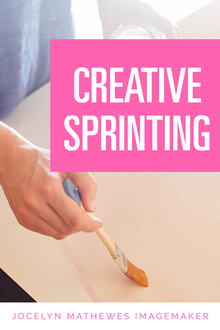 Creative sprinting is a wonderful way to get yourself to move through a project quickly! Learn a bit more about this technique for getting your thinking flowing well--for artists, creatives, designers, and anyone dealing with a challenge or porcrastination!