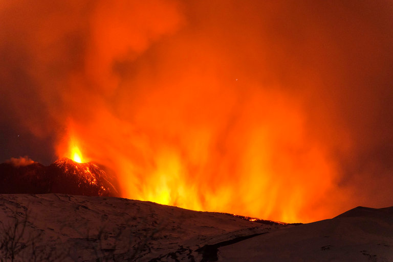 Mount Etna, Europe's most active volcano, spewed lava during an eruption early Thursday, 3/16/17. Credit Salvatore Allegra/Associated Press