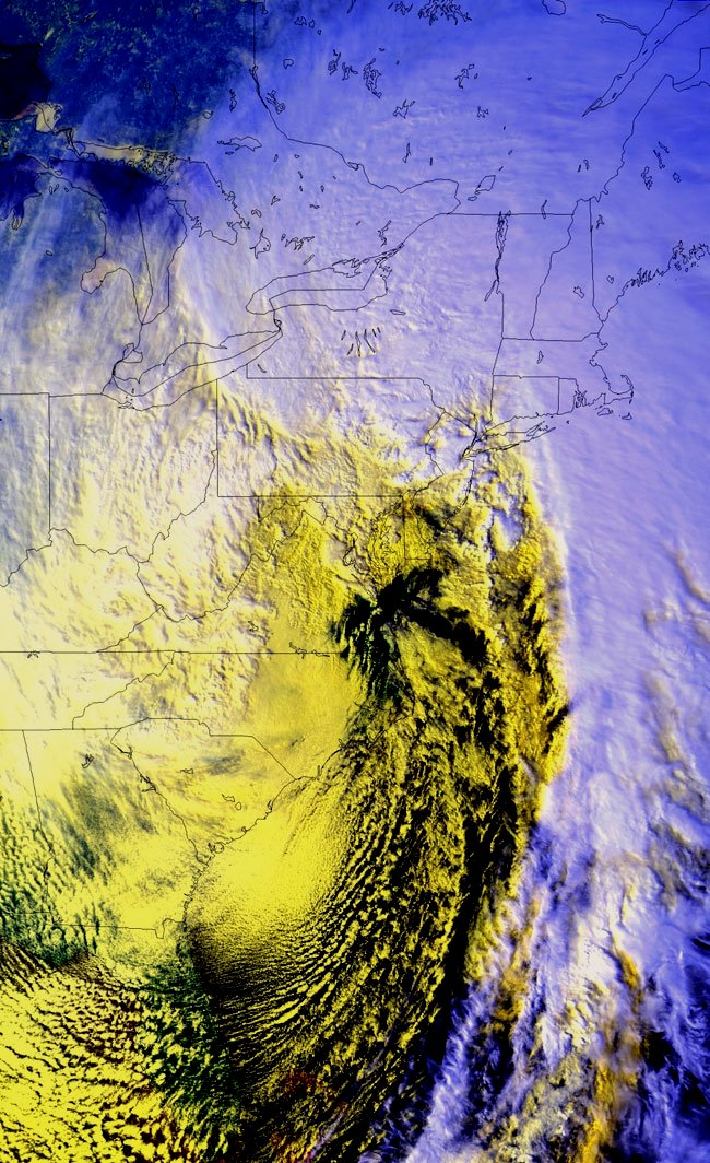 Composite satellite image of the 1993 superstorm (source: NOAA)