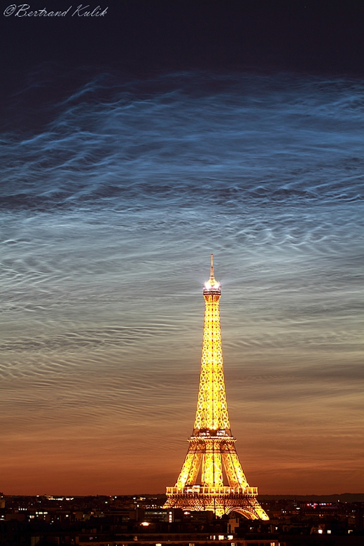 Bertrand Kulik took this picture from Paris at midnight on June 21st--the first night of northern summer. Courtesy Bertrand Kulik, spaceweather.com