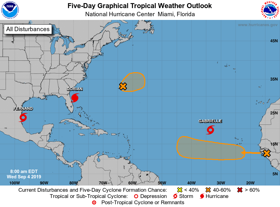The Atlantic Basin tropical season reaches a climatological peak in mid-September and it is living up to that this year with three named storms at the current time. Courtesy NOAA