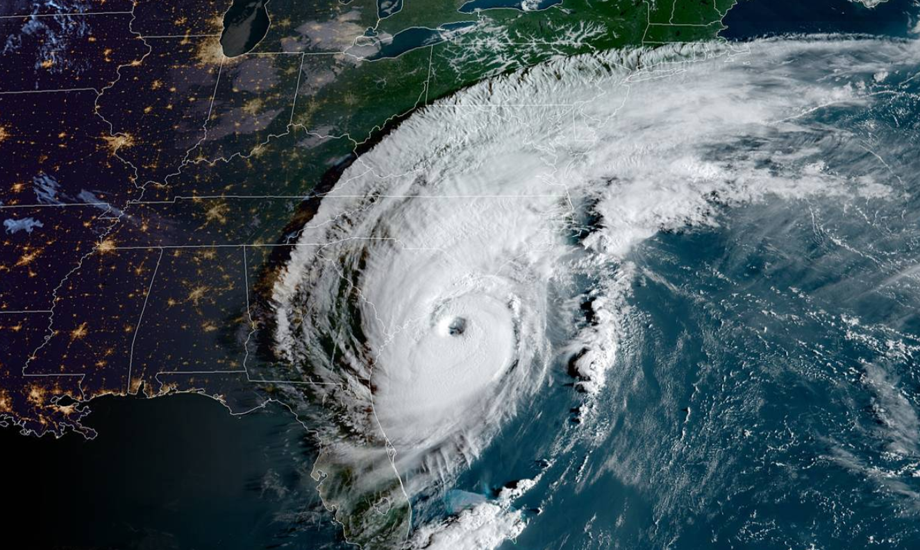 "A broad look at Hurricane Dorian which has regained ""major"" hurricane status. Courtesy NOAA"