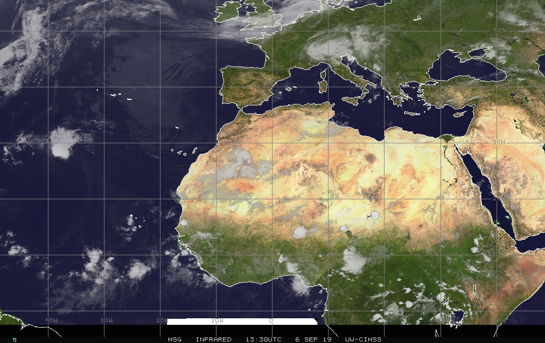 Multiple tropical waves over the eastern Atlantic and African continent suggest the Atlantic Basin tropical season will remain active for awhile to come; courtesy NOAA, CIMSS Wisconsin