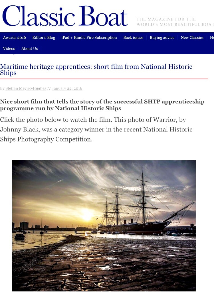 Johnny Black National Award winning Photographer, image of HMS WARRIOR 1860