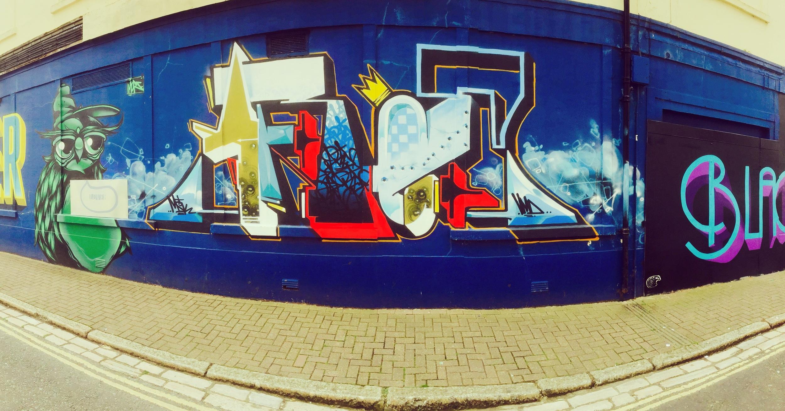 Wall art by MSK and Gary Stranger