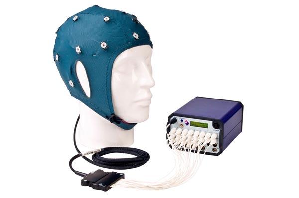 Conventional EEG cap with NeXus 32 system