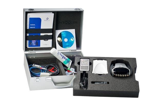 The NeXus-10 in it's aluminium case with accessories
