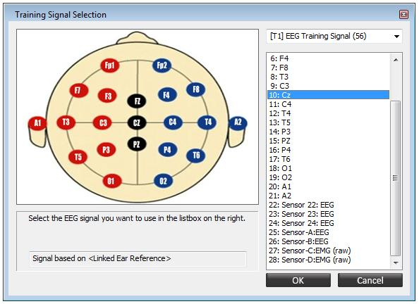 Training Signal Selection Screen