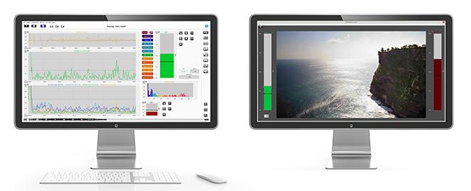 Typical NeXus dual-screen layout