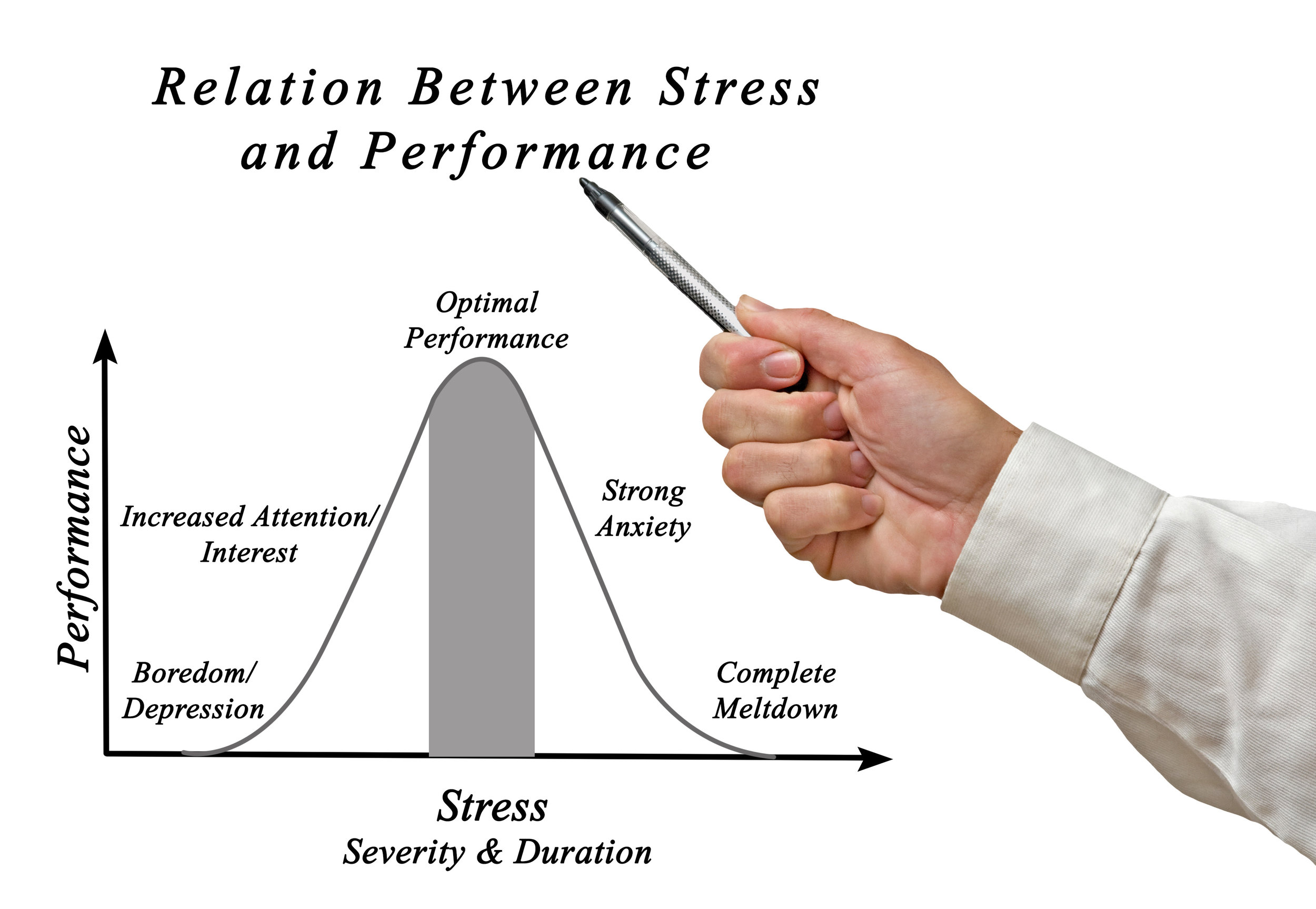 Yerkes–Dodson law linking stress and performance