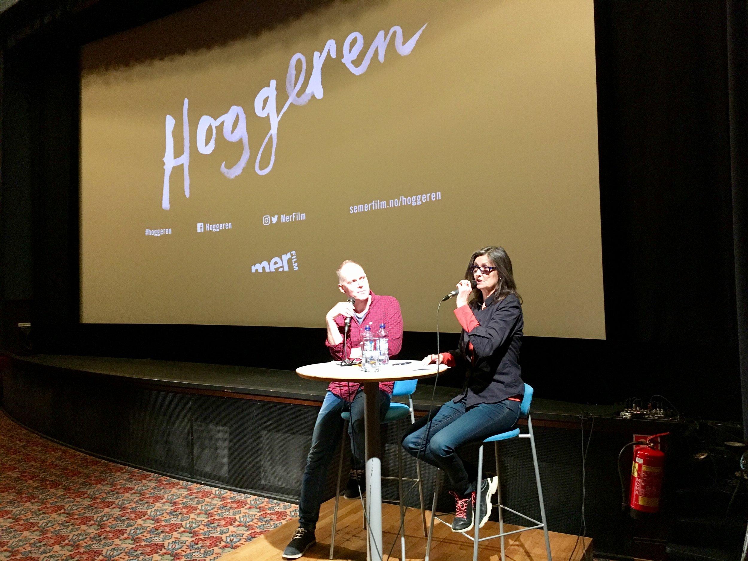 Geir Gulliksen og Sissel Gran på Gimle Kino 4. april.
