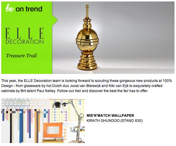 Elle Decoration Treasure Trail Award | UK