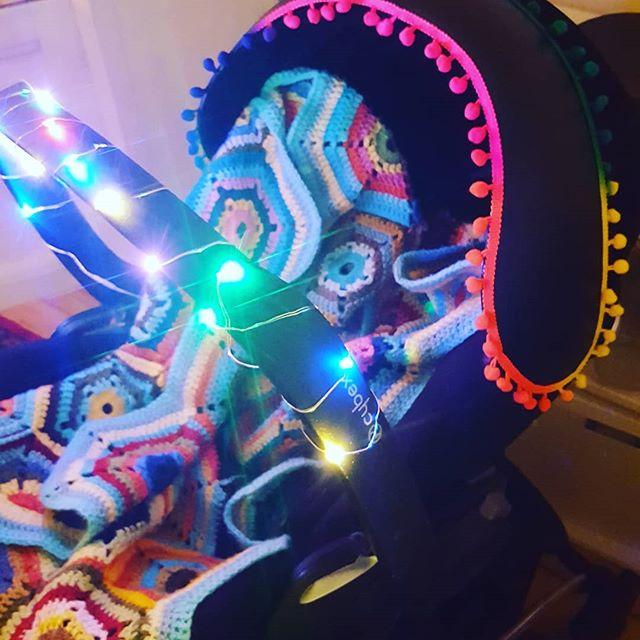 I couldn't help decorating the pram. Sleeps over rated anyway! #festive #decoration #christmas #xmas #xmasdecor