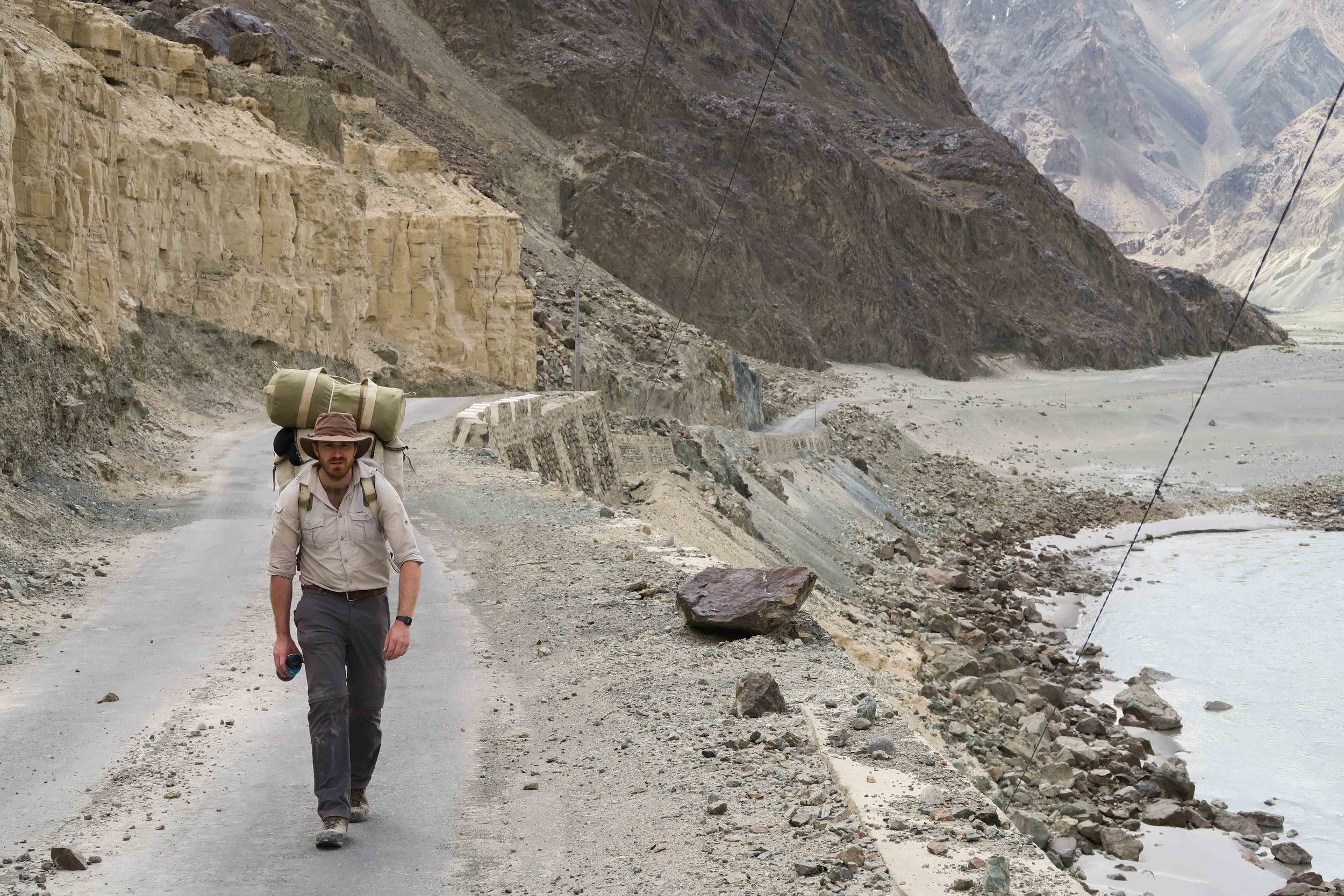 Along the Nubra valley we were able to follow the road most of the way
