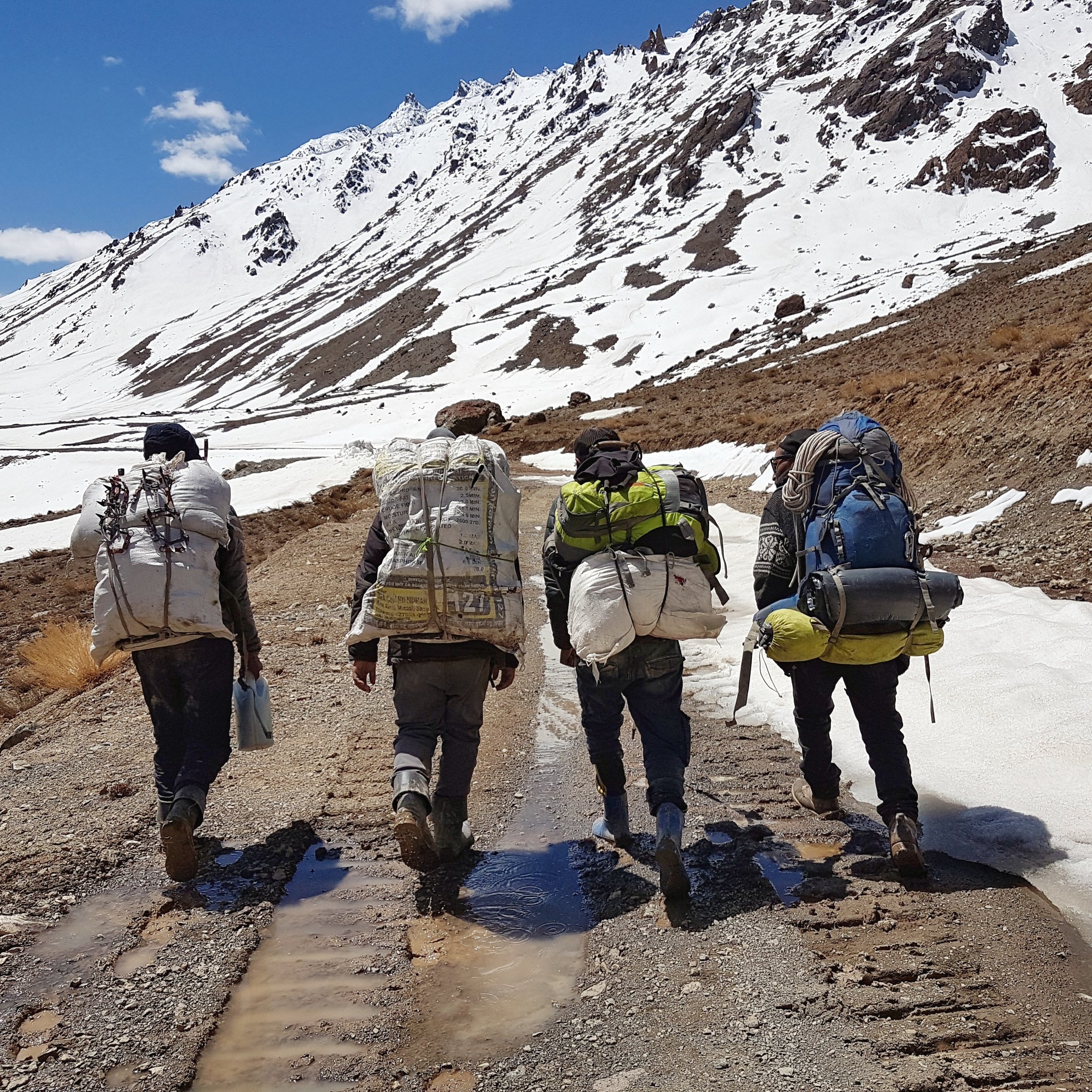 Sangay, my guide and the porters