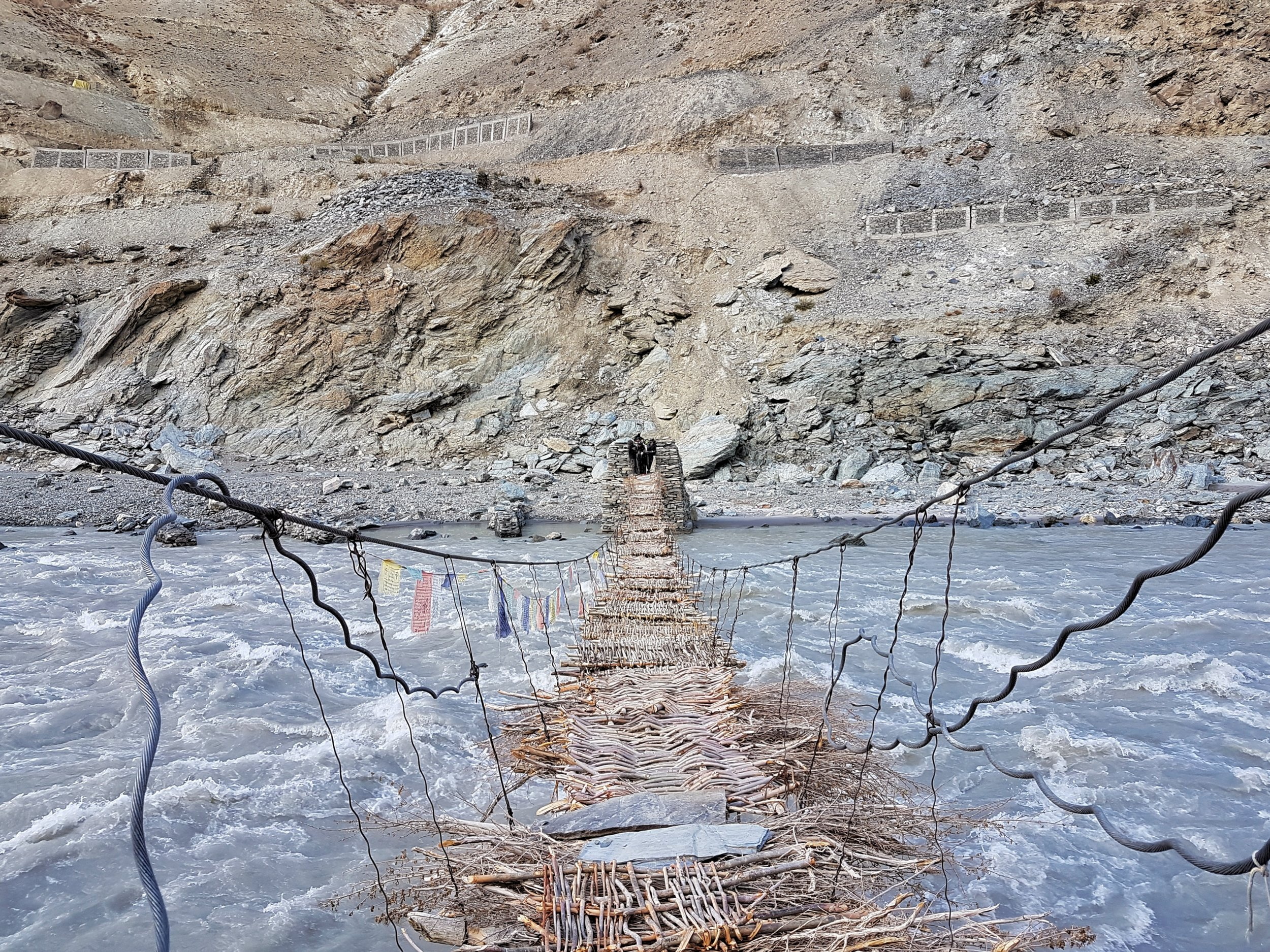 Would you cross a bridge made of sticks and stones?!
