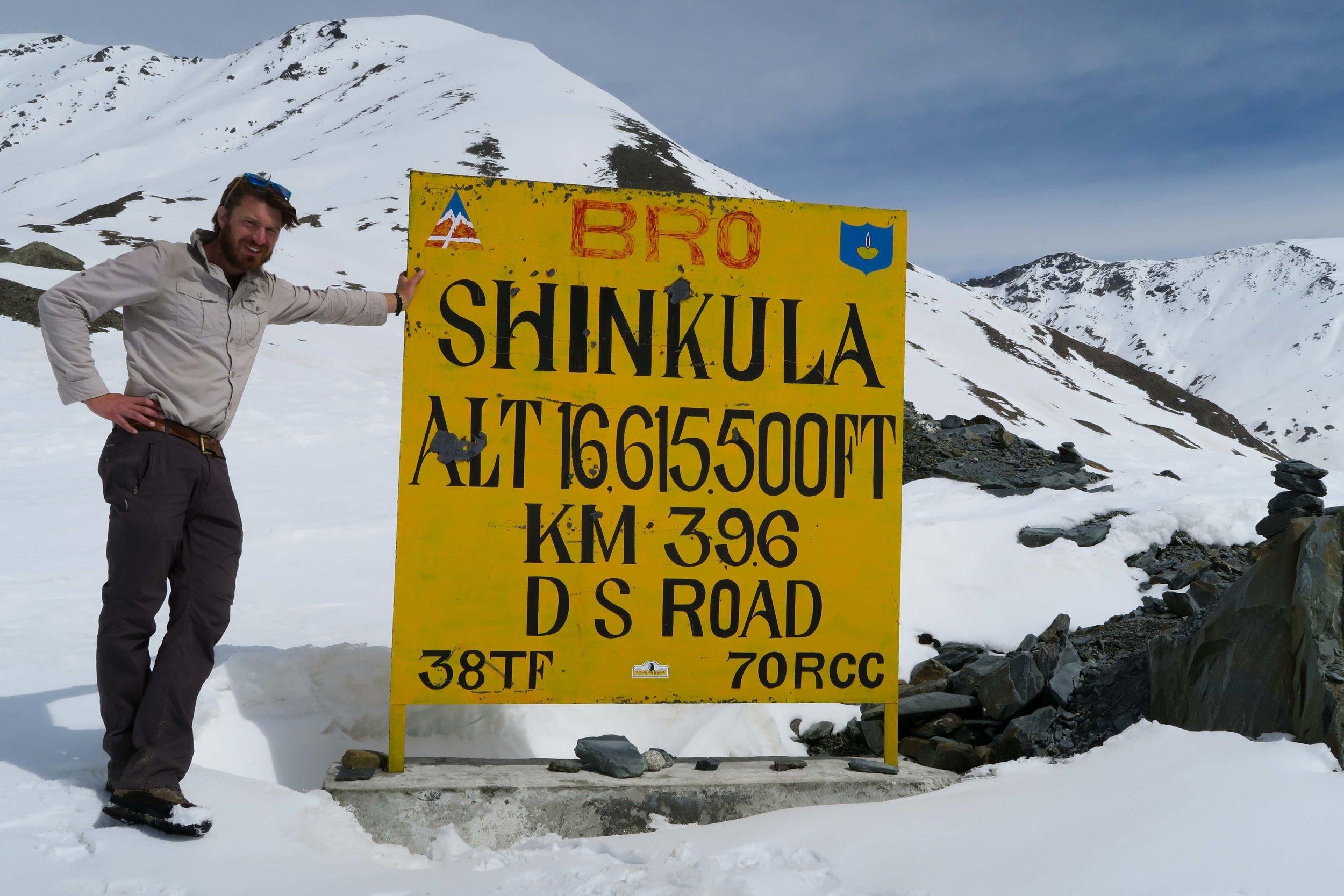 Standing atop Shingo-La pass, 5,064m.