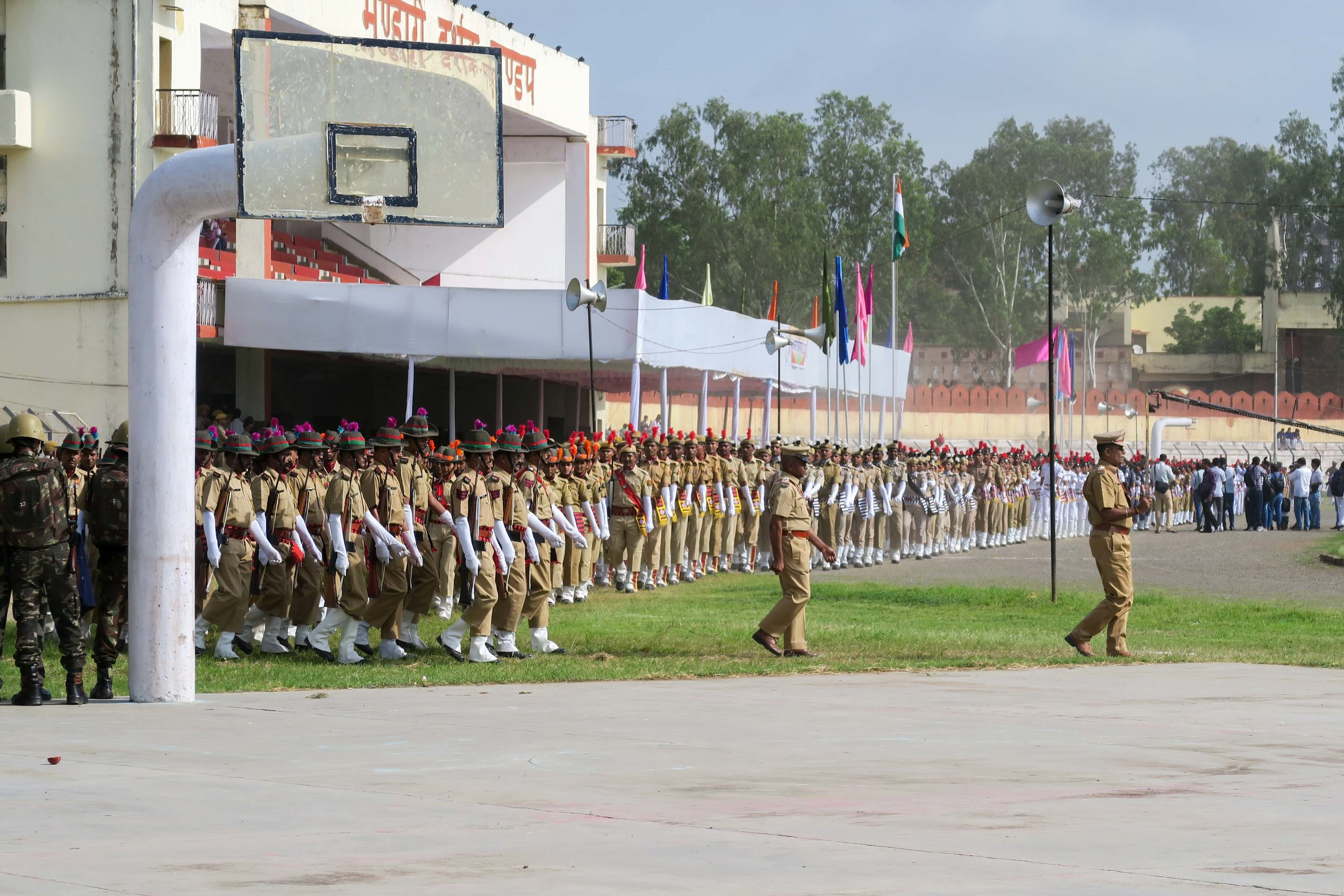 Police on parade in Gandhi Ground