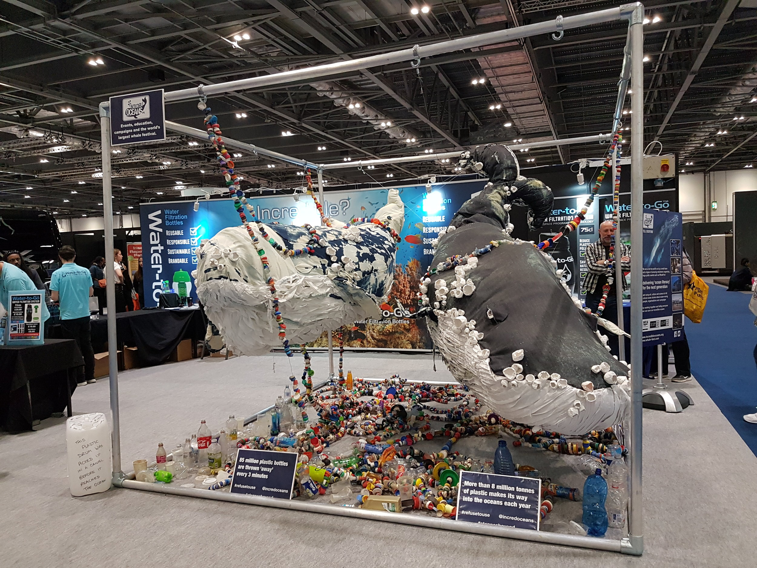 The Incredible Oceans stand at the Telegraph Travel Show