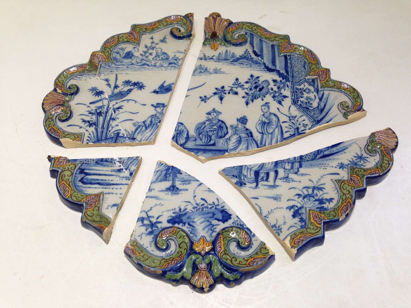 reparation faience plat