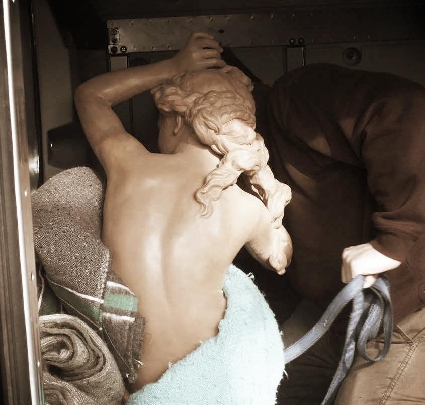 Transport sculpture terre cuite Jean Baptiste Carpeaux