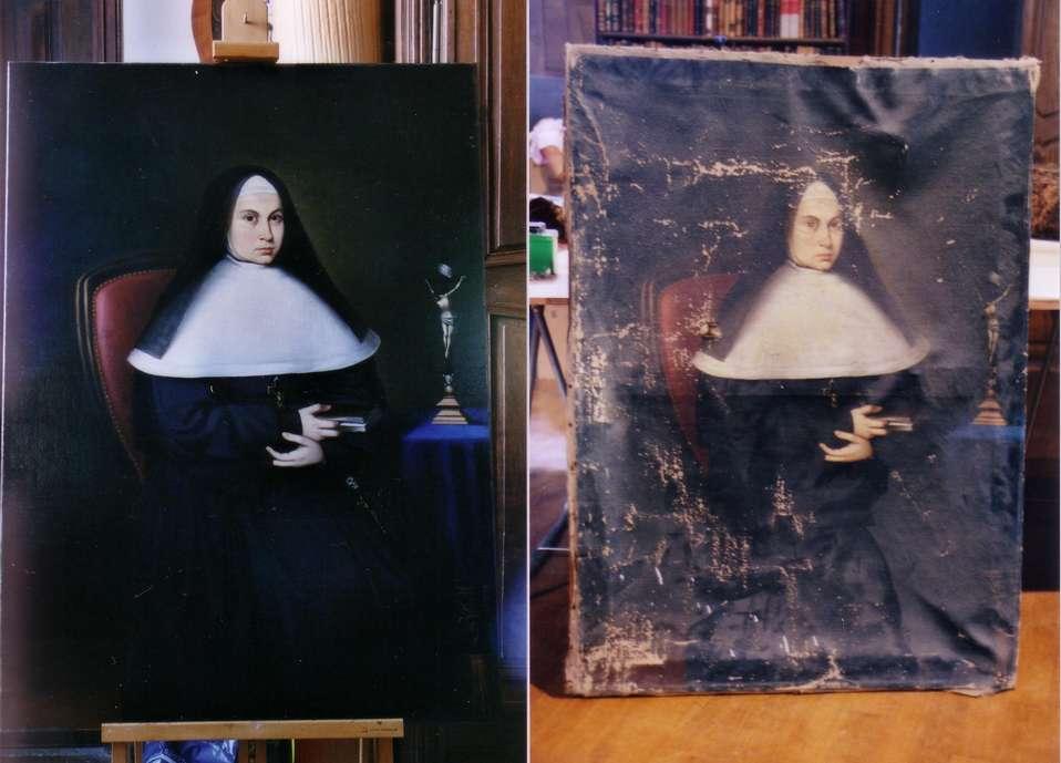 Restauration fondamentale d'un tableau religieux par F. Cagninacci