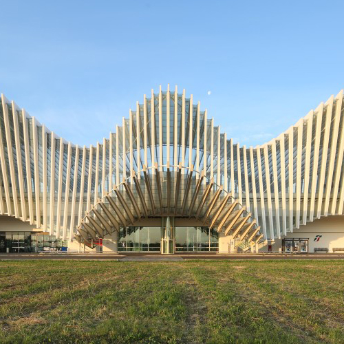 Mediopadana Train Station by Santiago Calatrava..Stazione AV Mediopadana di Santiago Calatrava