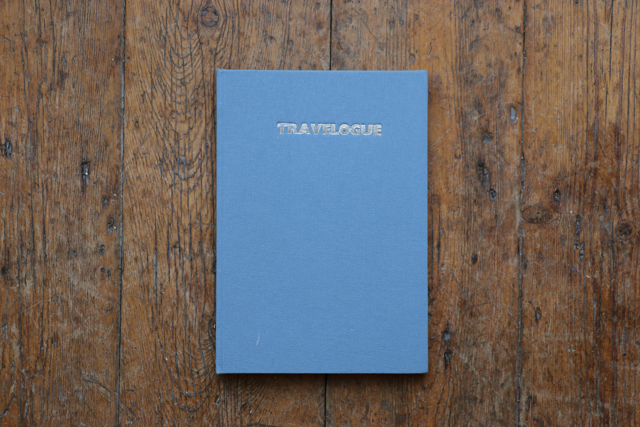 Travelogue , 2012 A5, 62 pages, hard back, hand stitched. Edition of 10  Currently out of stock.