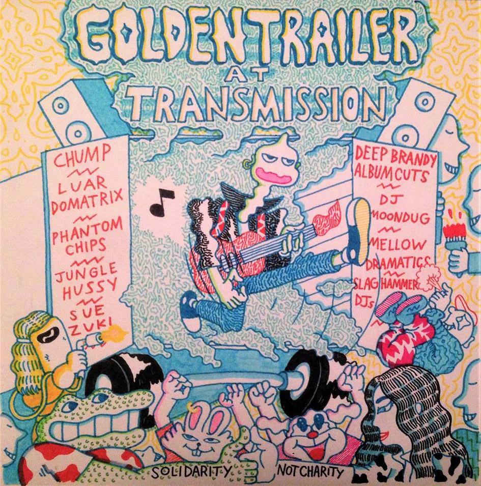 Golden Trailer party fundraiser artwork by  Jake Machenart  28th January 2017