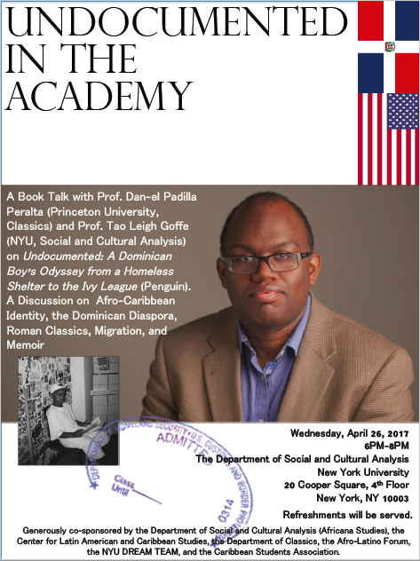 Undocumented in the Academy: Afro-Caribbean Identity, Migration, and Memoir, New York University, April 26, 2017