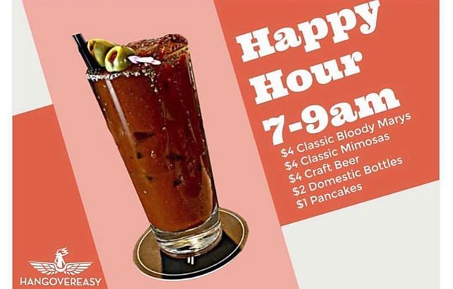 Celebrate the end of the week with a drink and some $1 pancakes #breakfastcuresall #ucbearcats #eat513 #cincyeats