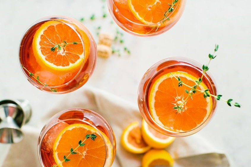 Drinks              - Sip the taste of summer with the refreshing Aperol Spritz! Relax and enjoy the beautiful summer weather with your friends and family with these festive drinks!