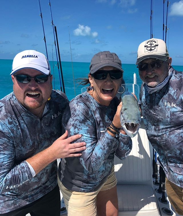 Excellent day #fishing with the Smith #family ! #familyfishing #familytime #snapper #barracuda #dinnertime #aftco #oceanled #oceansedgekeywest #keywest #saltwaterfishing #biscaynerods #vanstaal #powerpoledown #simrad #howweplay #yellowfinyachts #bayboat #mercurymarine @aftco @oceanled @biscaynerod @vanstaalofficial @powerpole @jlaudioinc