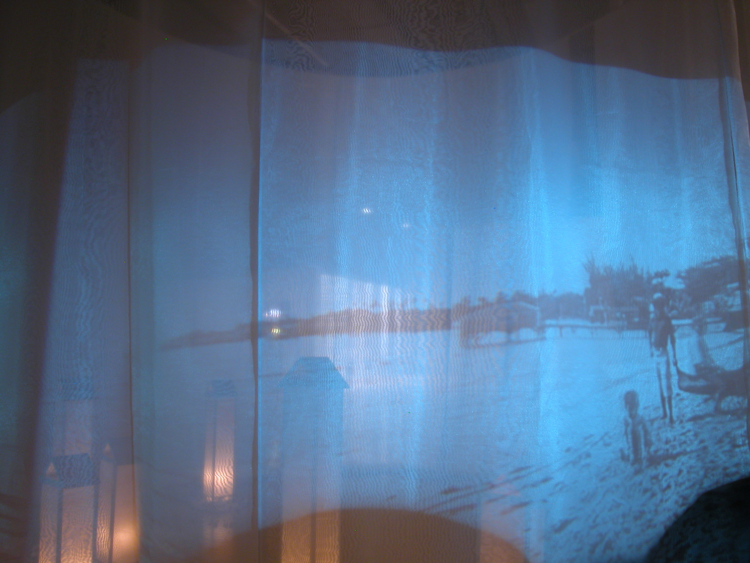 Detail-Projection of Imaginary Places in HI on Organza curtain