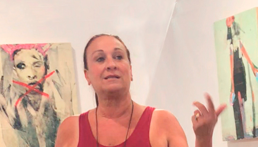 Me, during an artist talk at A Smith Gallery, July 2018