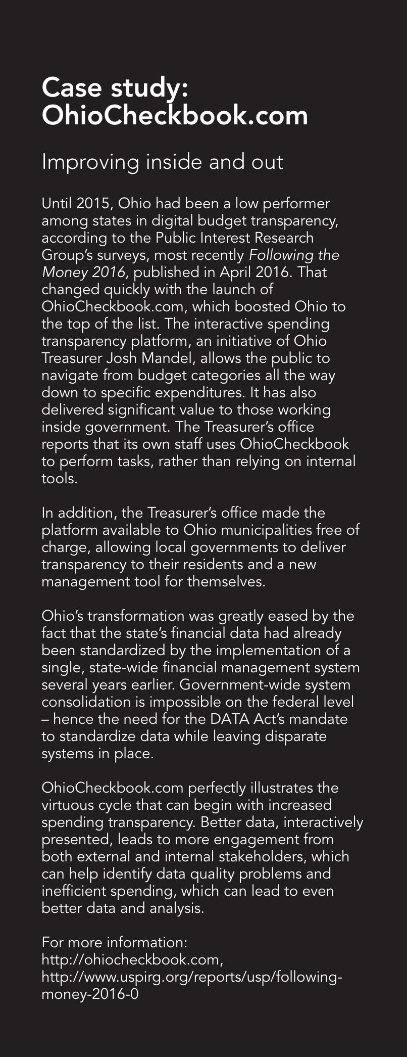 Case study: OhioCheckbook.com