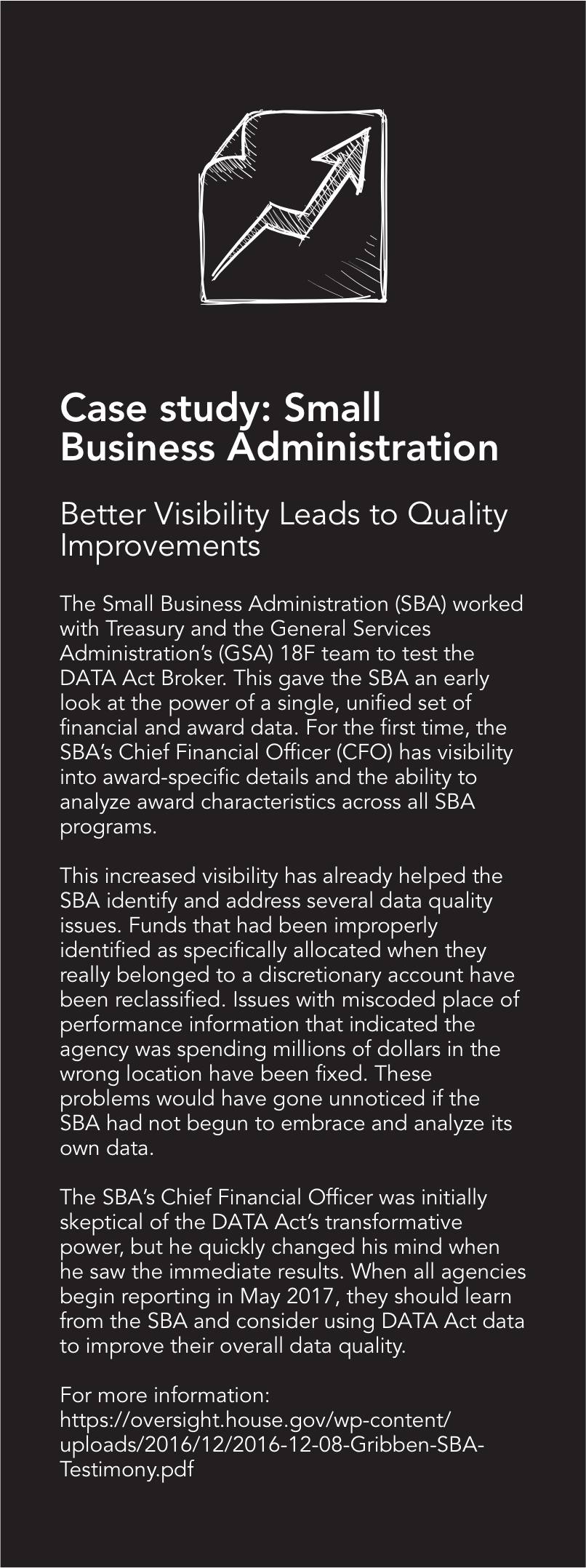 Case study: Small Business Administration