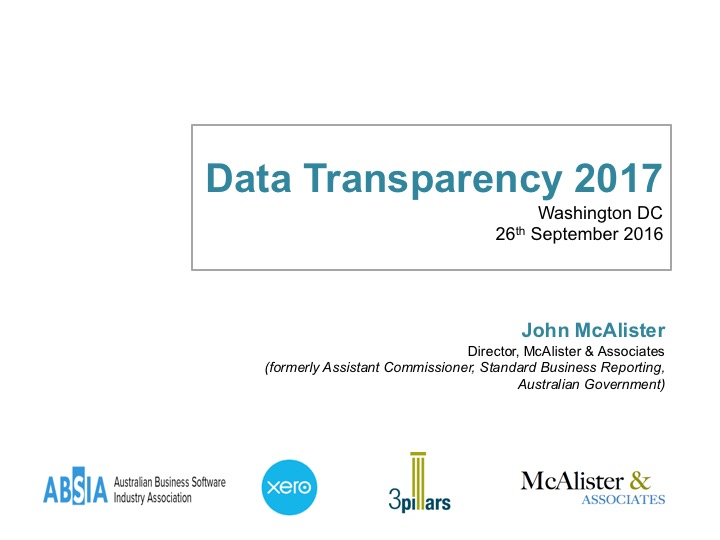 SLIDES: John McAlister, Former Assistant Commissioner, Australian Tax Office